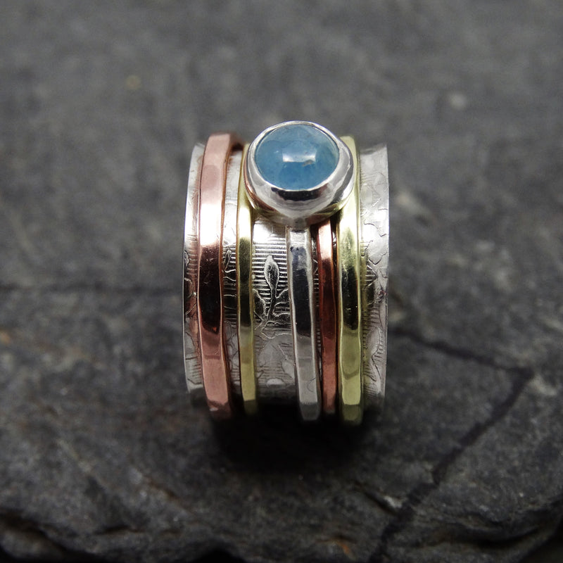 Aquamarine Spinning Ring