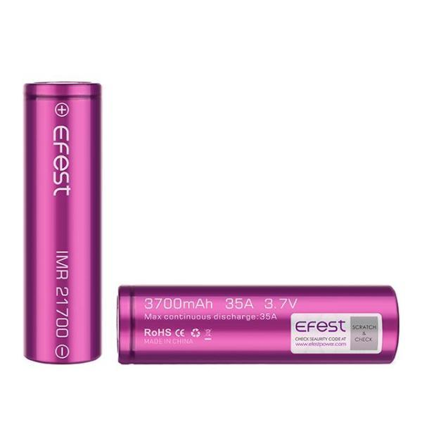 Wholesale Vapor Efest 21700 IMR 3700mAh Flat Top