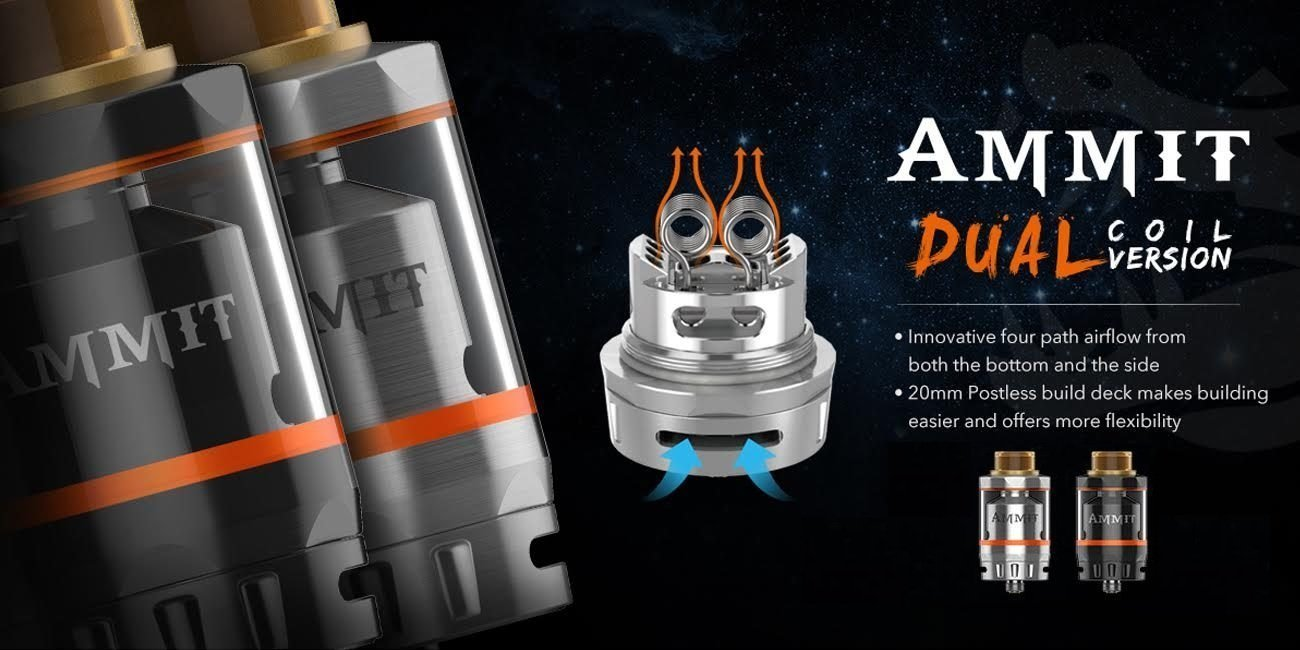Ammit Dual Coil RTA by Geek Vape - Vapor King