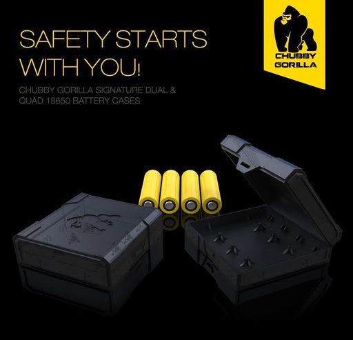 Chubby Gorilla Quad 18650 Battery Case - Clearance - WholesaleVapor.com