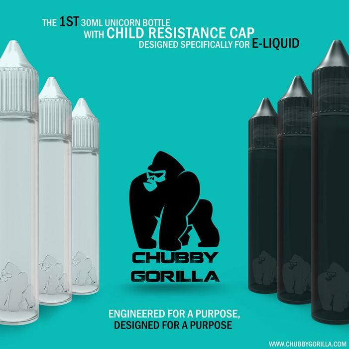 Chubby Gorilla Unicorn Bottles 30ml (Quantity Discounts)