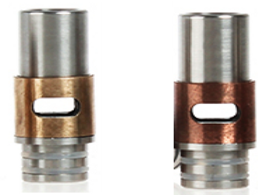 Adjustable Airflow Drip Tips in Copper or Brass
