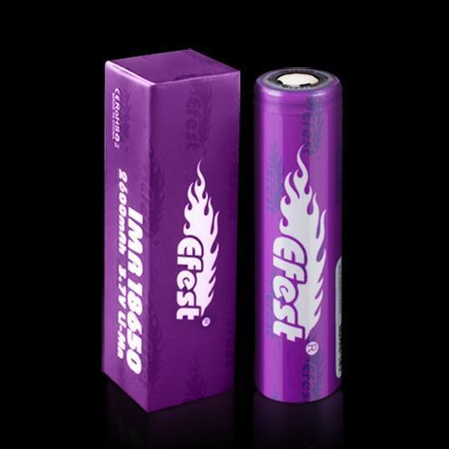Wholesale Vapor Efest IMR Purple 18650 2600mah 40a flat top battery