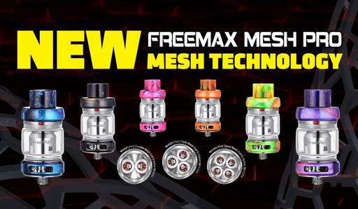 FreeMax Mesh Pro Sub Ohm Tank - Resin Design - WholesaleVapor.com