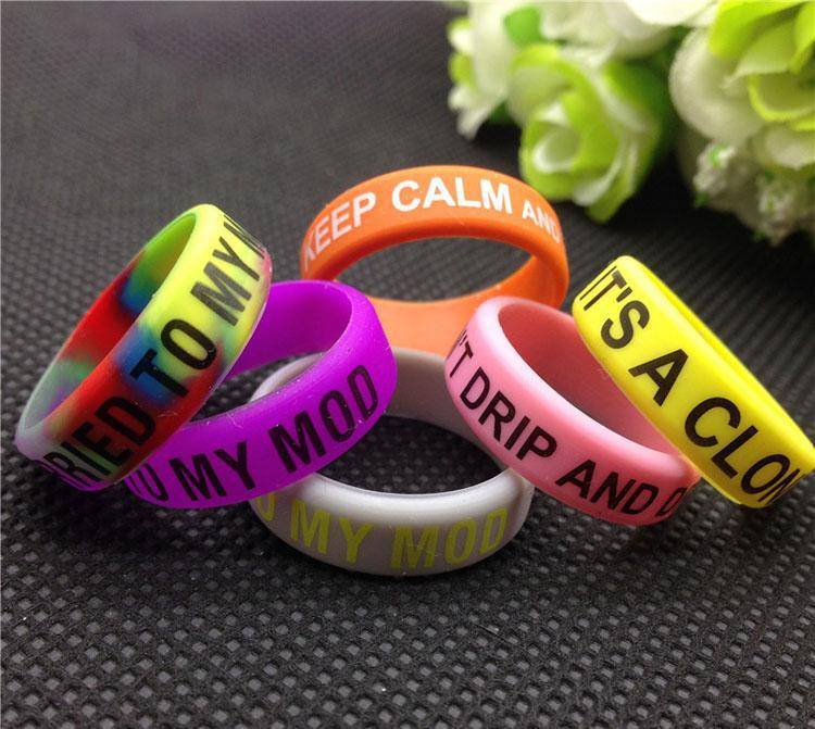 Mod Bands Pack of 100 (Vary Colors / Text) - Vapor King