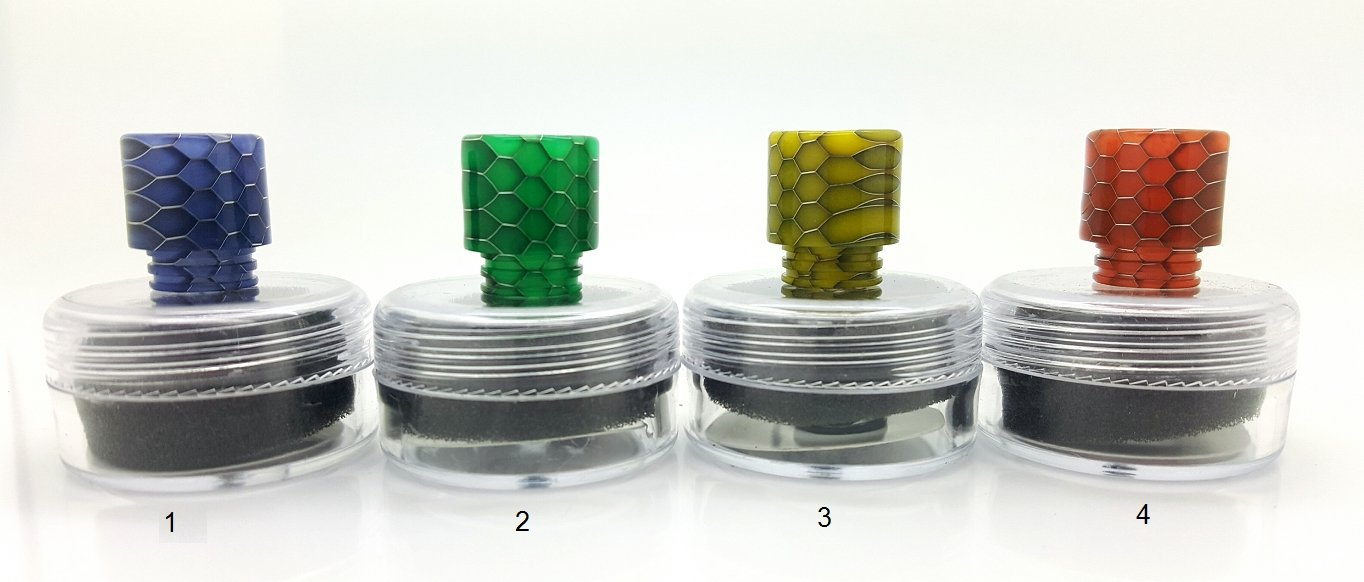 Snake Skin Resin Drip Tips *Fits SMOK TF SERIES - Vapor King