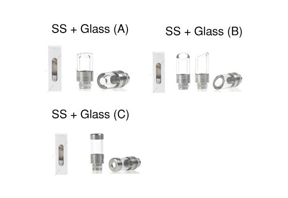 SS w/ Glass Drip Tips (Different Options) - Vapor King