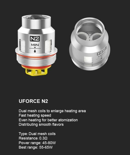 VooPoo Uforce N2 Replacement Coils - 5 Pack - Vapor King