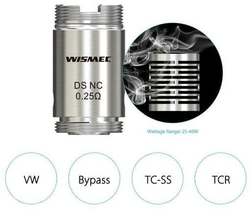 Wismec Orma DS NC 0.25ohm Coils (5 Pack) - Vapor King