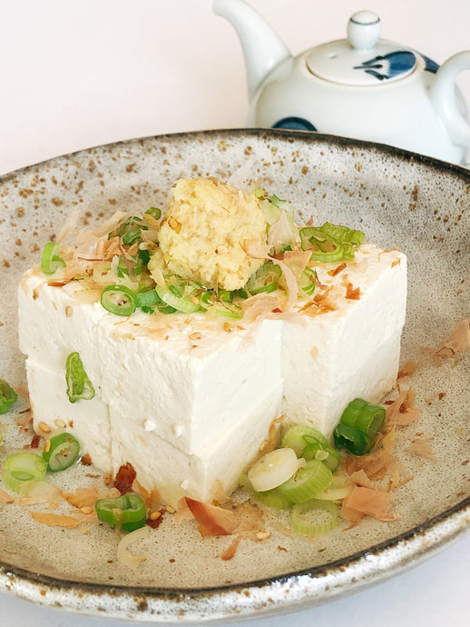 Hiyayakko With Homemade Organic Tofu