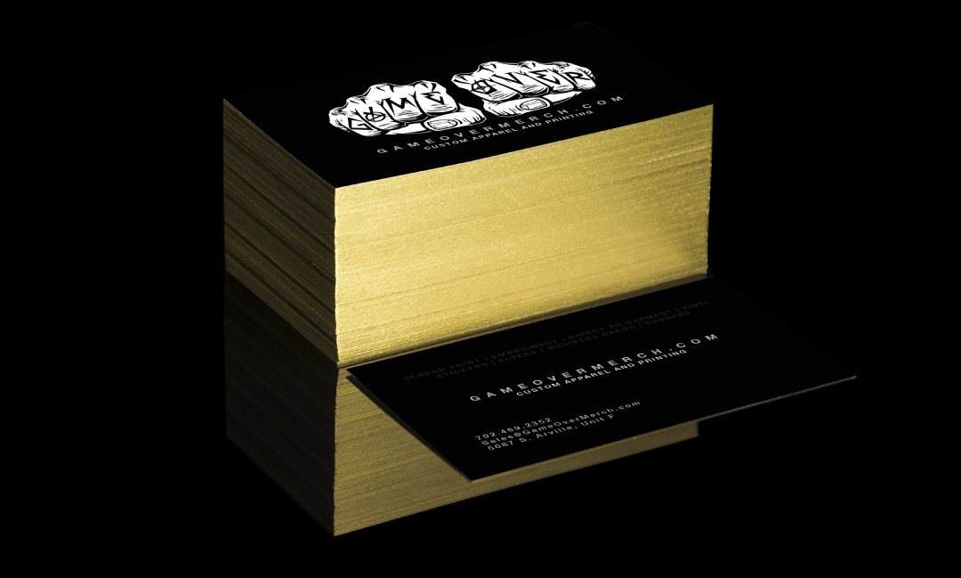 Business cards game over merch get a business card sample kit reheart Image collections