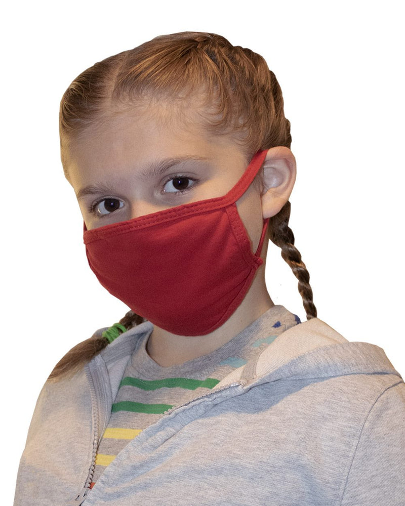 Bayside Youth USA-Made 100% Cotton Face Mask 25 Pack