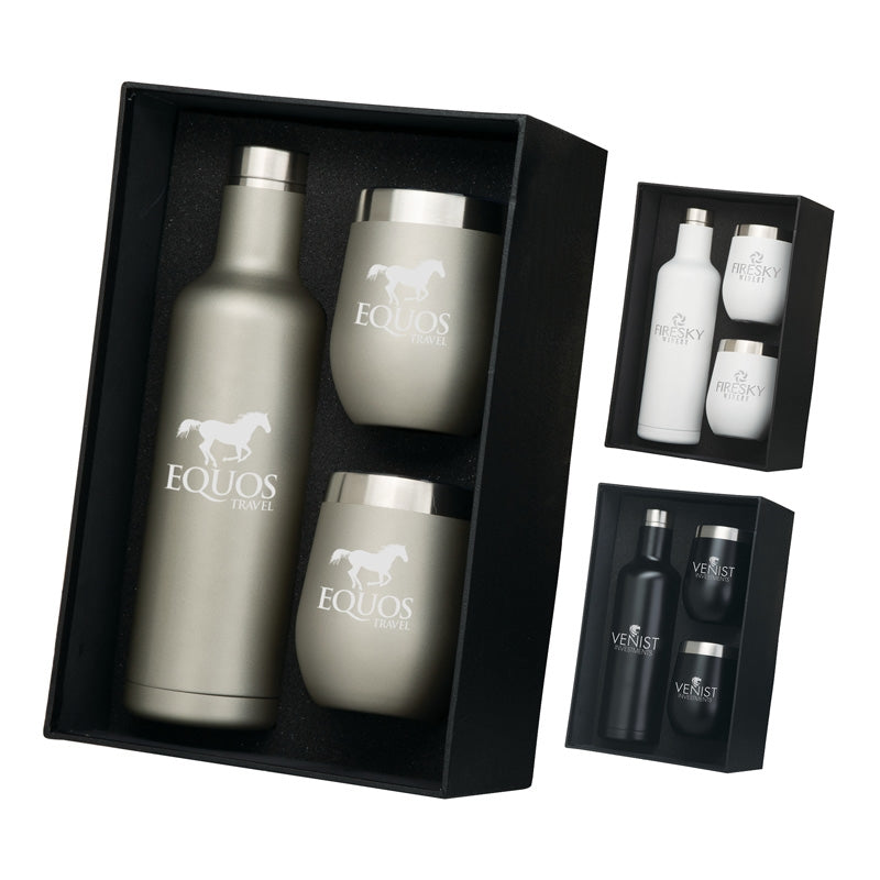 Bliss Wine Bottle Tumbler Gift Set