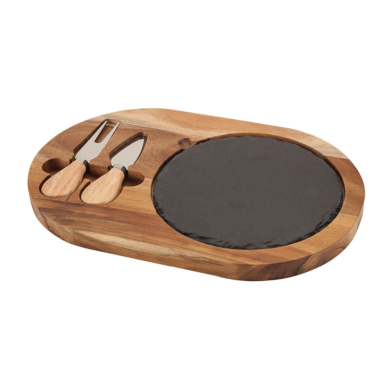 Bon Appetit Slate Cheese Set