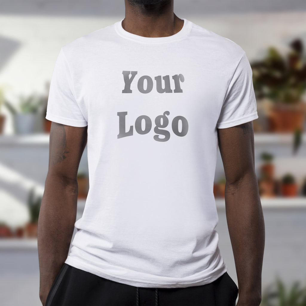 Custom DTG Printed Full Color White T-Shirt
