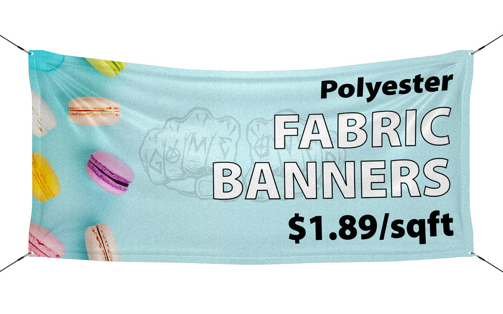 Polyester Fabric Banner ($1.89/sqft)