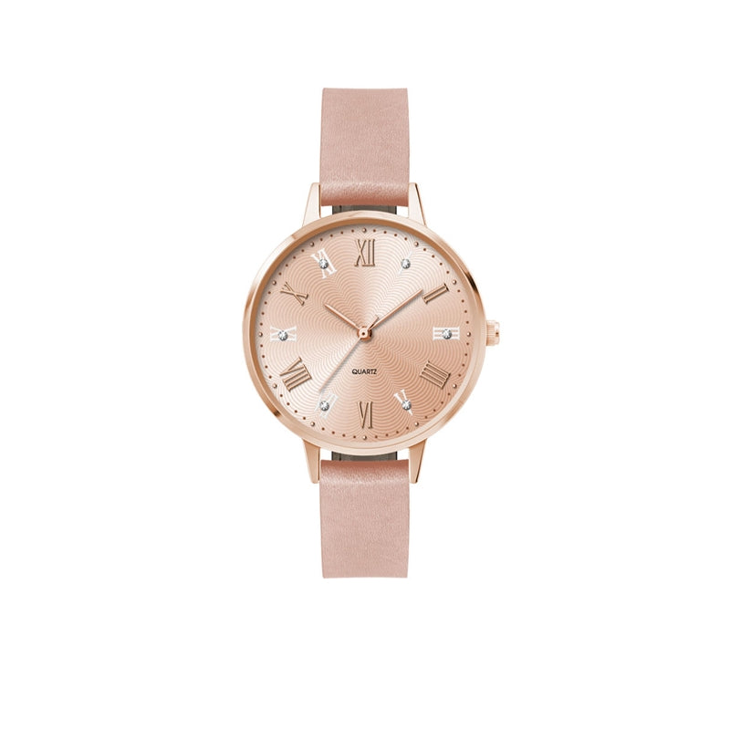 Ladies 34mm Rose Metal Case Watch
