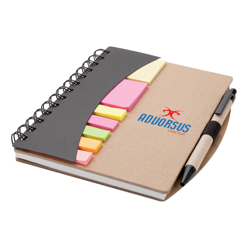 Mini Journal with Pen Flags and Sticky Notes