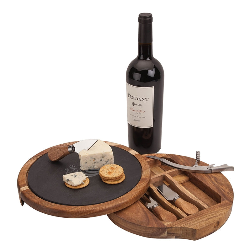 Normandy Swivel Base Cheese Wine Set