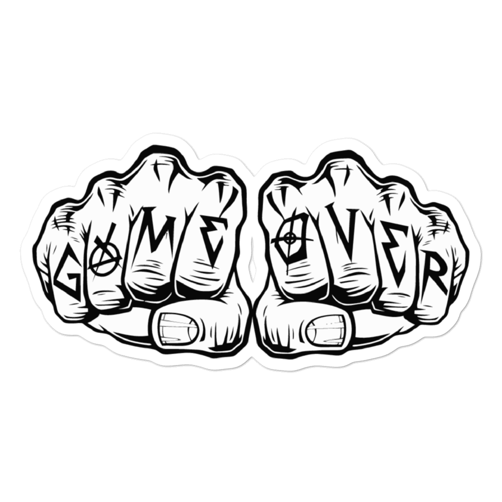 Game Over Knuckles Sticker