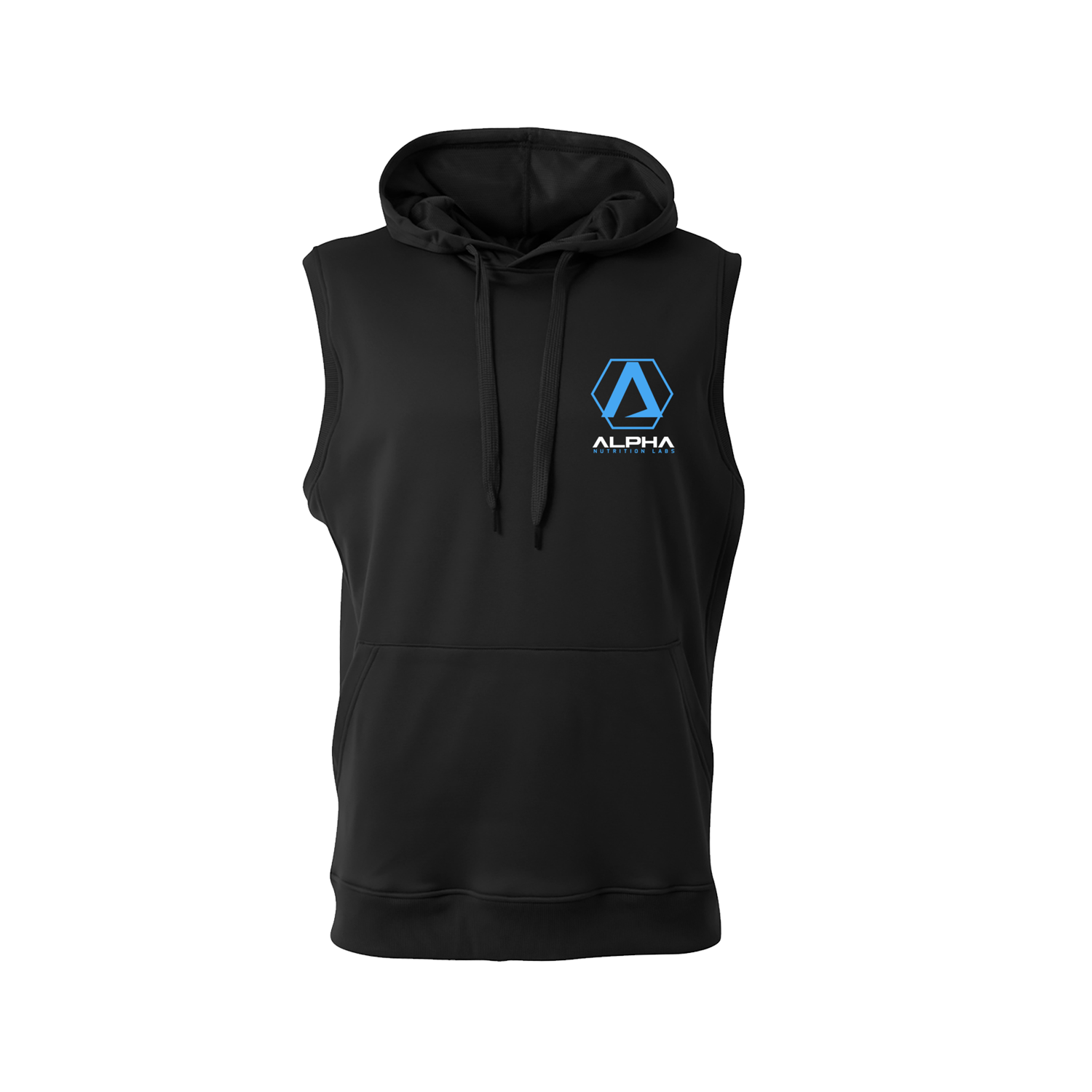 Alpha Black Sleeveless Hoodie