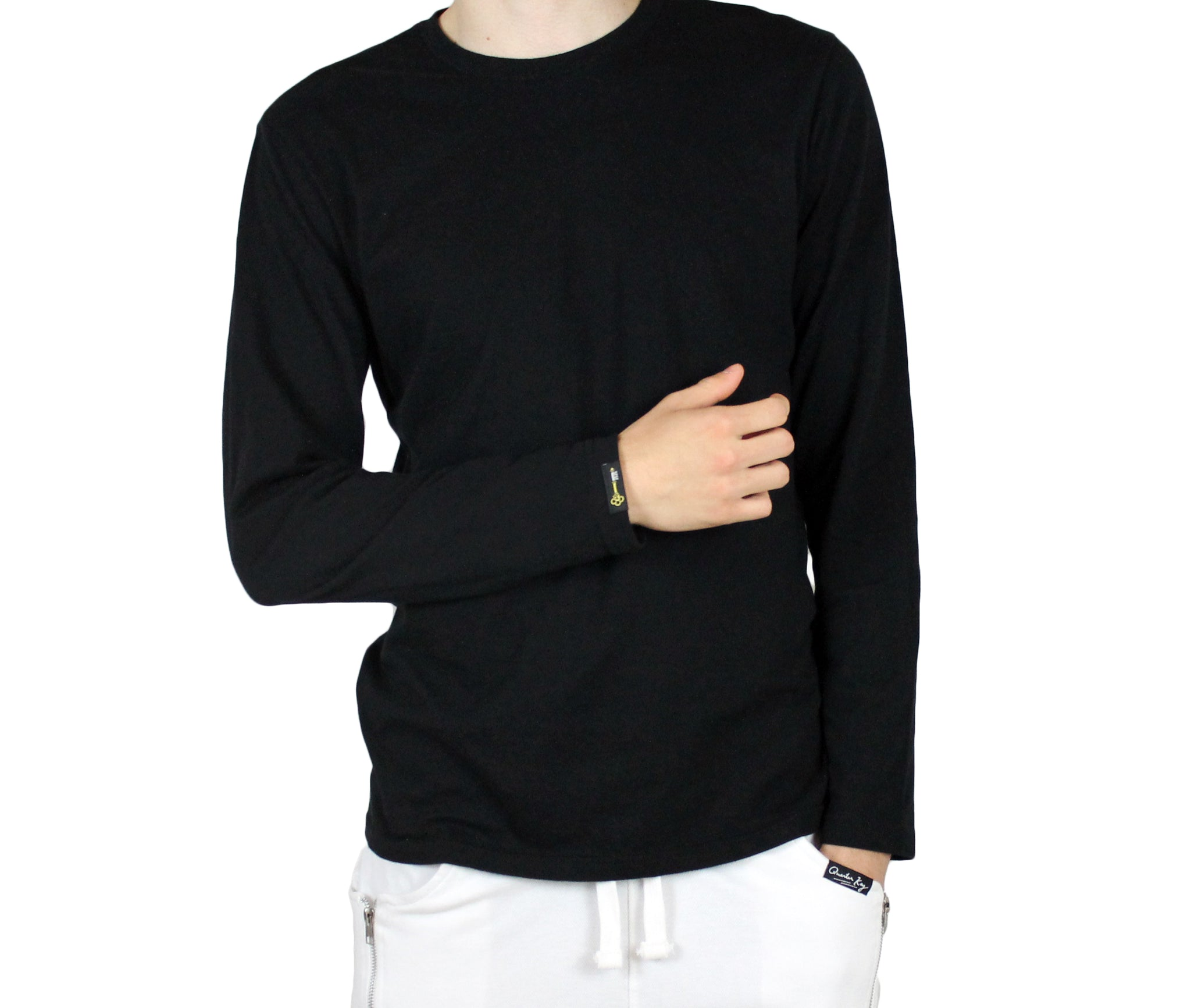 The Black Luxe Long Sleeve T-Shirt