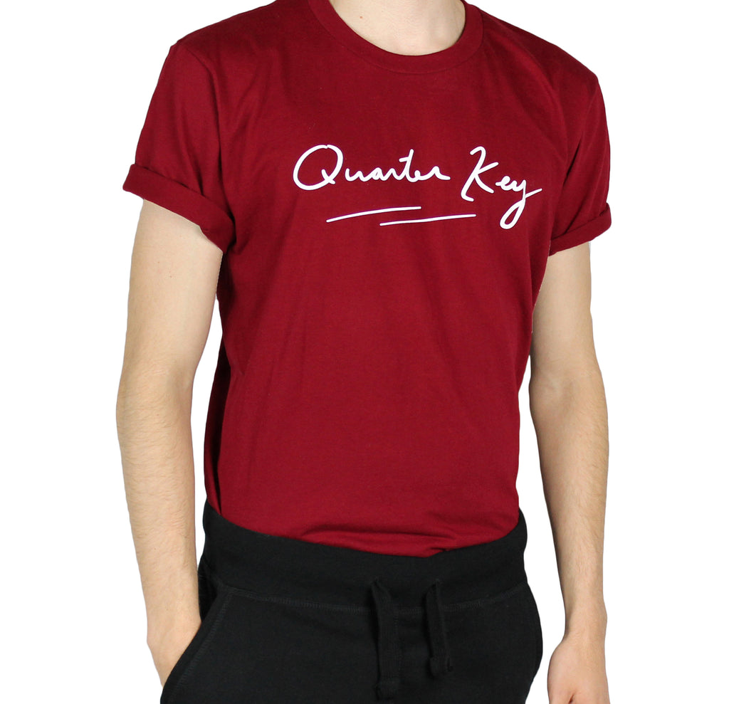 Signature T Shirt - Maroon