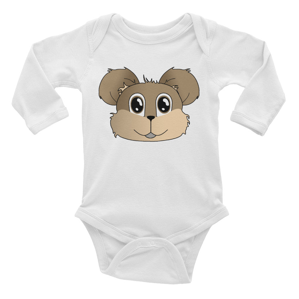 Vinny bear Infant Long Sleeve Bodysuit