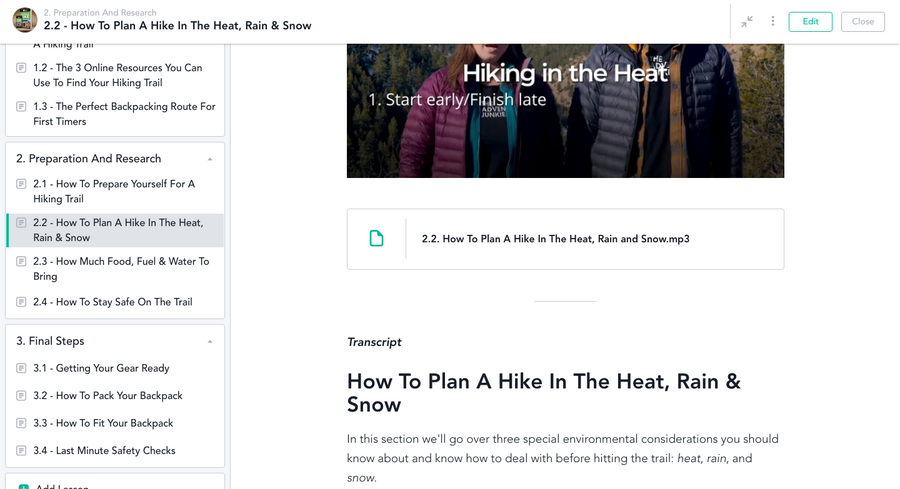 How To Plan Your First Overnight Hike - Video Course
