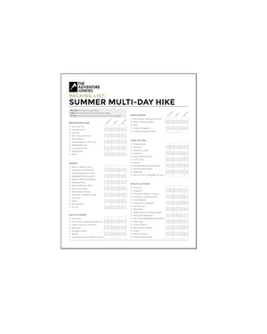 Summer Multi-Day Hike Checklist