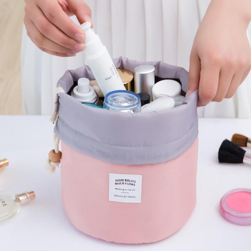 Drawstring Barrel Cosmetic Bag