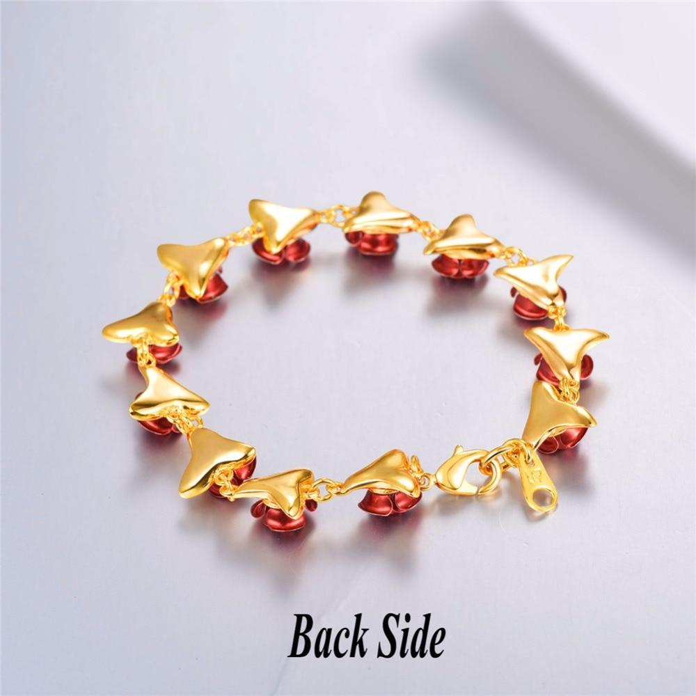 Red Rose Flower Bracelet - HYGO Shop