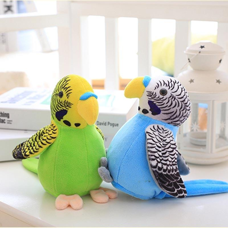 Bright-Colored Plush Parrot Toy