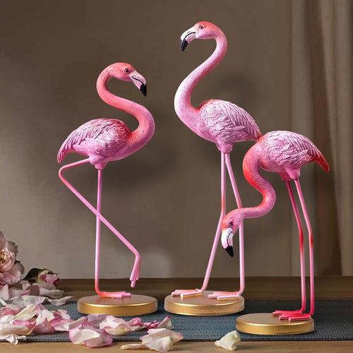 Pink Flamingo Desktop Figurines