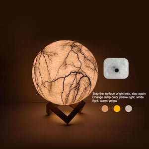 Cracked Moon Lamp