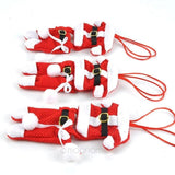 Santa Silverware Stockings