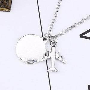 Silver Travel Pendant Necklace