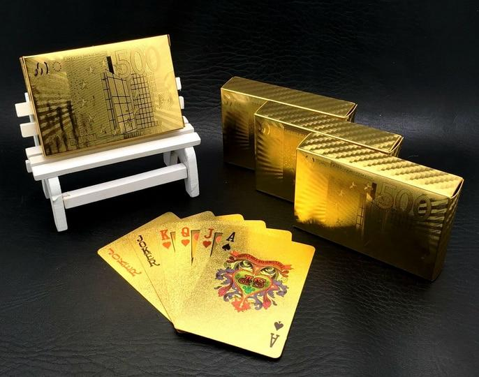 Golden Stack Playing Cards