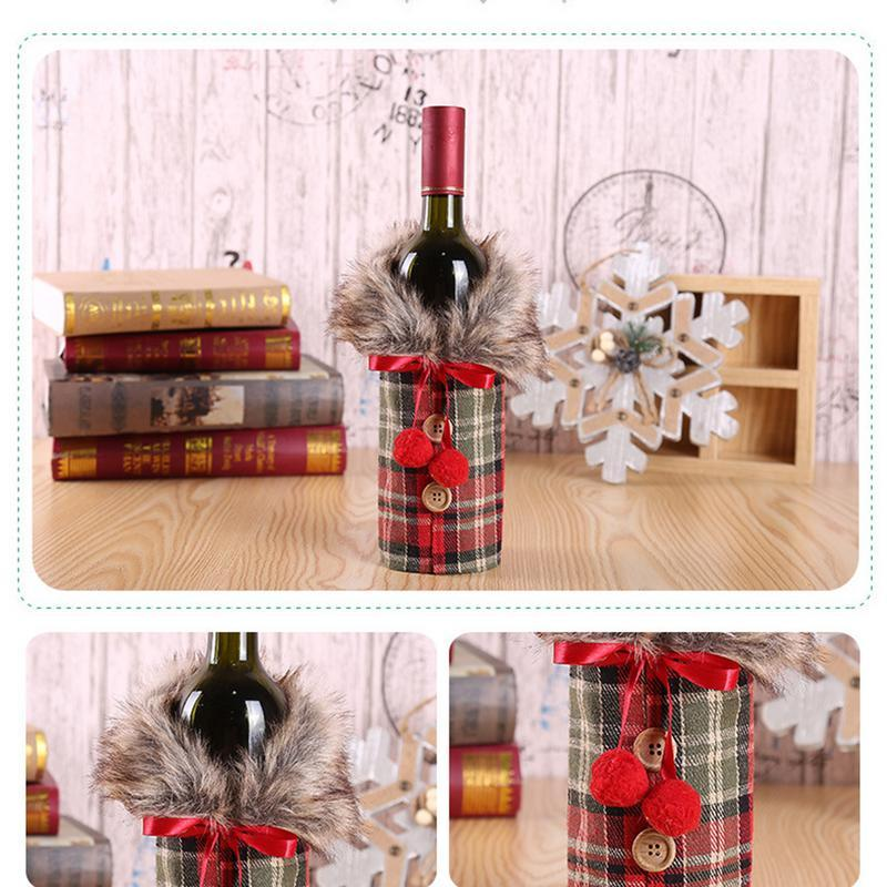 Cozy Christmas Wine Cover