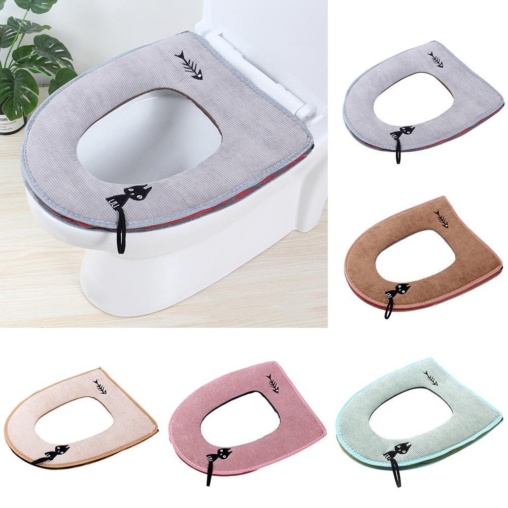 Cat and Fish Toilet Cover