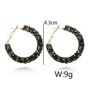 Crystal Hoop Earrings - HYGO Shop