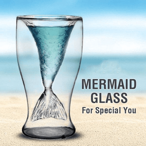 Mermaid Tail Double Wall Glass
