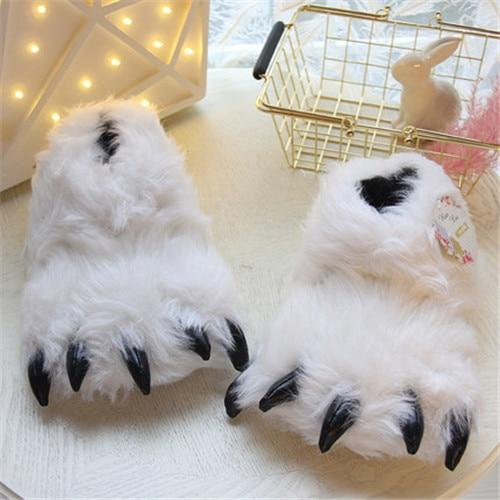 Yeti Paws Fuzzy Slippers