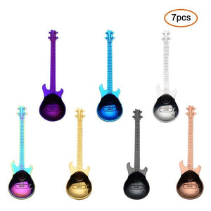 Guitar-Shaped Spoon Set