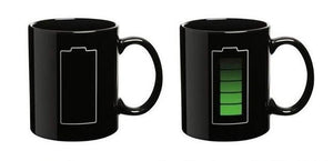 Heat-Reacting Charging Mug