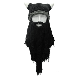 Knitted Viking Beard Beanie