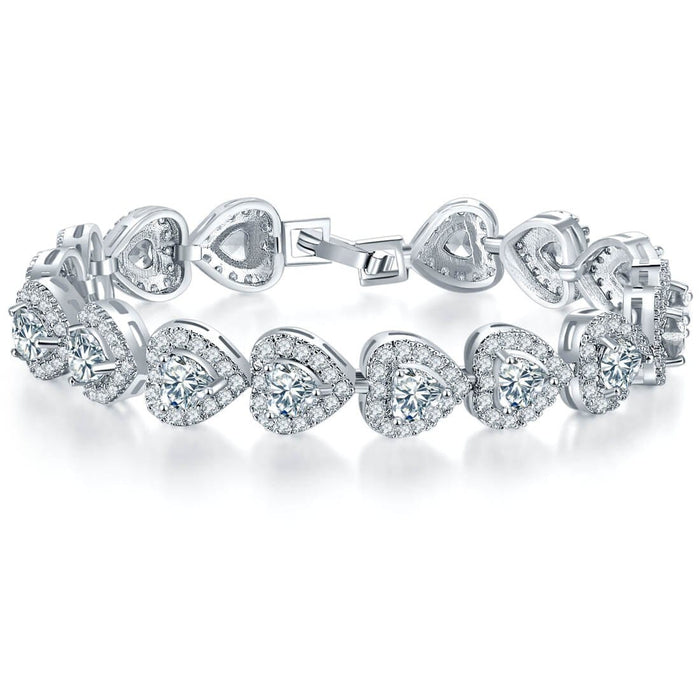 Heart Shaped Sparkling Bracelet