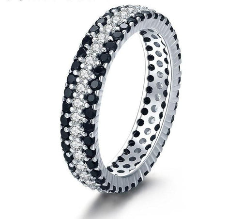 Classic Sterling Black Silver Ring