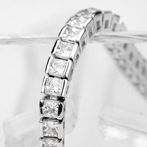 Classic Princess Diamond Tennis Bracelet