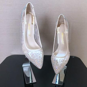 High Heel Rhinestone Shoes